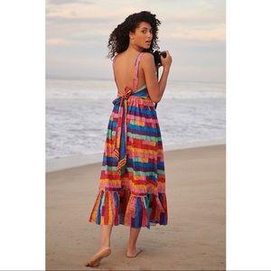 FARM Rio Anthropologie Soleil Beaded Maxi Dress
